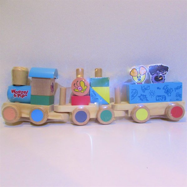 Woezel en Pip, houten trein, 8712051051901